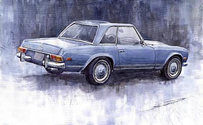 Pagoda Painting -  Mercedes Benz 280 Sl W113 Pagoda  by Yuriy  Shevchuk
