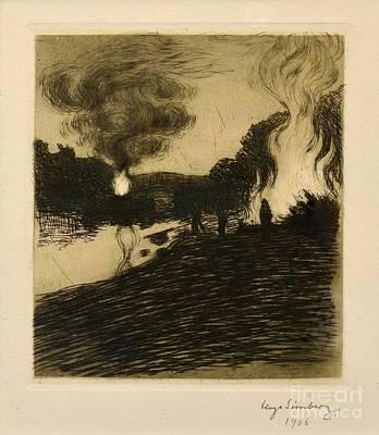 Midsummer Bonfires Art Print