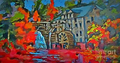 Mill At Kings Landing New Brunswick Original by John Malone