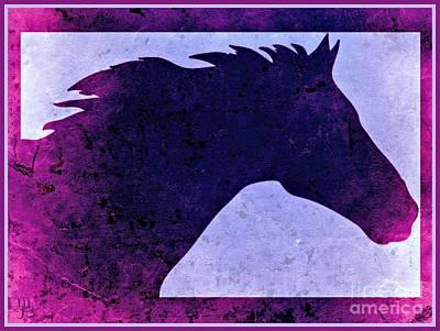 Digital Art -  Mindy's Purple Horse  by Mindy Bench
