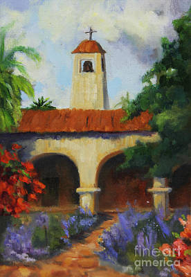 San Juan Painting -  Mission San Juan Capistrano by Maria Hunt