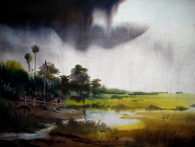 Monsoon Village  Original by Samiran Sarkar