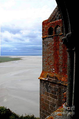Photograph -  Mont Saint-michel Outlook by Jacqueline M Lewis