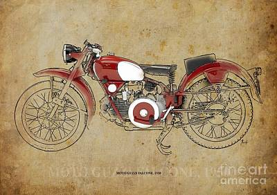 Moto Guzzi Falcone 1950 Art Print by Pablo Franchi