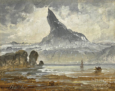 Norway Painting -  Mount Stetind by Celestial Images