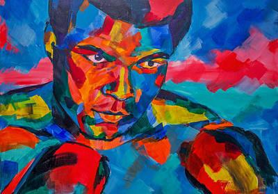 Celebrity Painting -  Muhammad Ali by Dima Mogilevsky