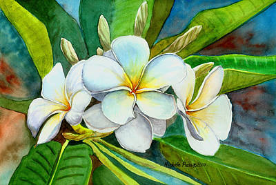 Plumeria Painting -  My Favorite by Michele Ross