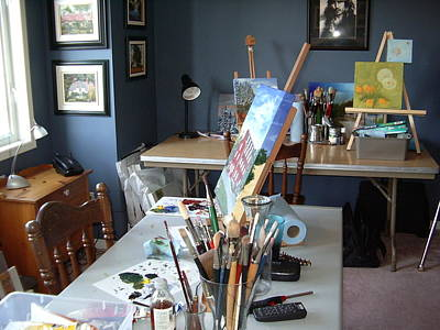 Art Print featuring the painting  My Station by Diane Daigle