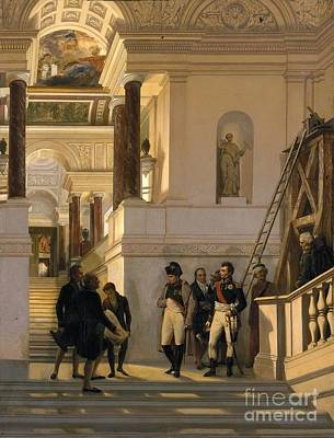 Staircase Painting -  Napoleon Visiting The Staircase  by MotionAge Designs
