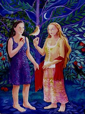 Nature Whispers Her Wisdom  -annunciation  Original by Trudi Doyle