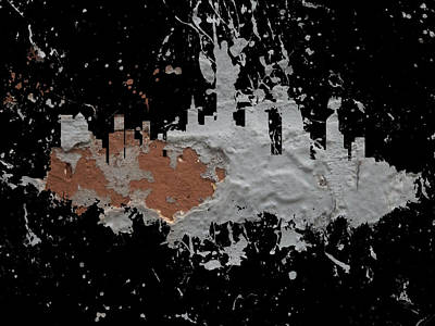 Mapping Mixed Media -  New York Cityscape 2b by Brian Reaves