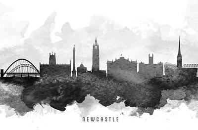 Newcastle Painting -  Newcastle Cityscape 11 by Aged Pixel
