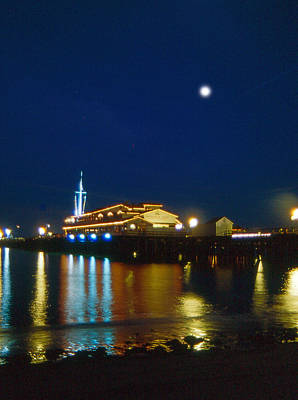 Photograph -  Night Time On The Warf by Gary Brandes