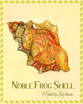Noble Frog Shell Art Print by Kimberly McSparran