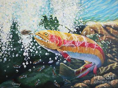 Painting -   Not Your Average Goldfish by Carey MacDonald
