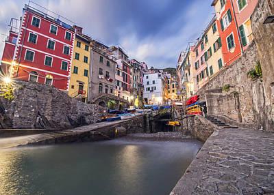 Photograph -  Notte A Riomaggiore by Brad Scott