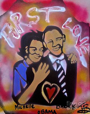 First Amendment Painting -  Obama First Love... by Tony B Conscious