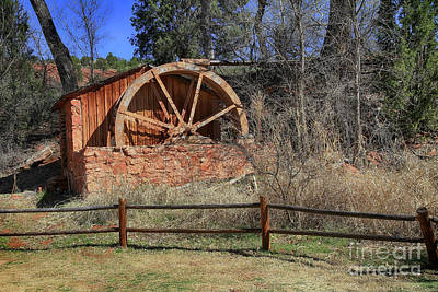 Old Brick Water Mill  Art Print