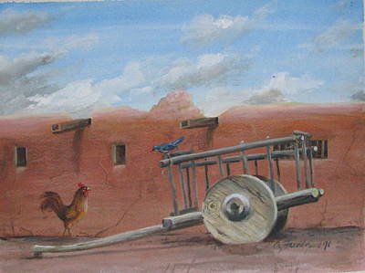 Painting -  Old Spanish Cart  by Oz Freedgood