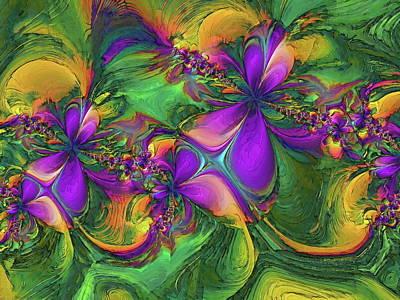 Digital Art -  Orchids by Alexandru Bucovineanu