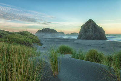 Photograph -  Oregon Coast At Sunrise 2 by Jonathan Nguyen