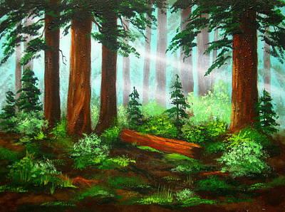 Oregon  Woods Art Print