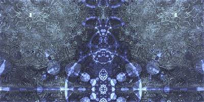 Organic Emblem In Blue Original by Jacob Bettany