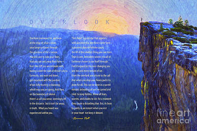 Overlook Poem Art Print by Korrine Holt