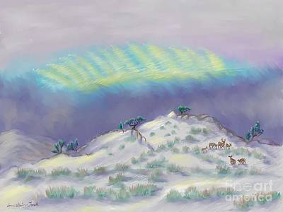 Mixed Media -  Peaceful Snowy Sunrise by Dawn Senior-Trask