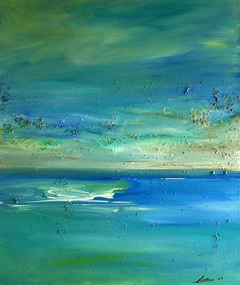 Painting -  Pearls Of Tranquility Seascape 1 by Dolores  Deal