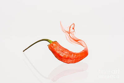 Food And Beverage Photograph -  Pepper On Fire by Tod and Cynthia Grubbs