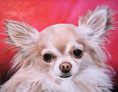 Pet Portrait Painting Commission Papillon Dog Original
