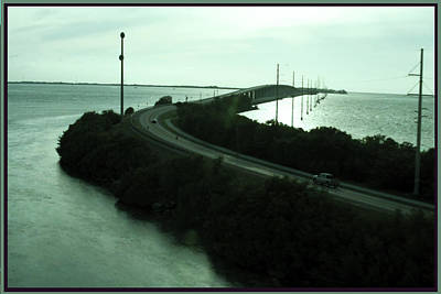 Photography Of Roads N Baches 90 Miles South Of Miami On The Island Chain Of Islamorada Art Print by Navin Joshi