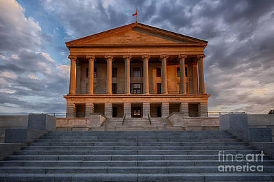 Capital Building In Nashville Tennessee Photograph -  Photography Print Of The State Capital Building Of Nashville Tennessee At Sunrise by Jeremy Holmes