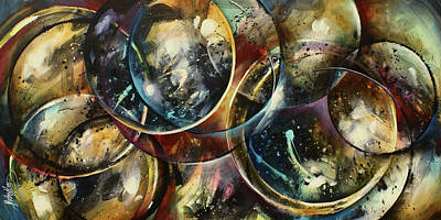 Sphere Painting -  ' Places In Time' by Michael Lang