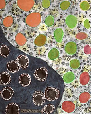 Playful Yin And Yang Pattern Art Print by Heidi Capitaine