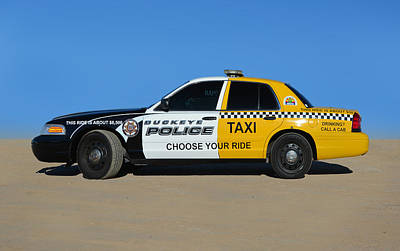 Drunk Driving Photograph -  Police  Taxi by Martin Massari