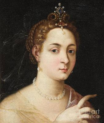 Allegorical Figure Painting -  Portrait Of A Lady by Celestial Images