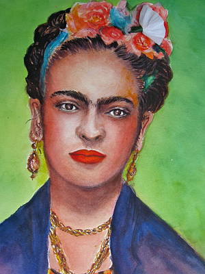 Frida Drawing -  Portrait Of Frida Kahlo  by Myra Evans