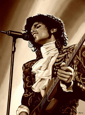 Rhythm And Blues Mixed Media -  Prince The Artist by Paul Meijering