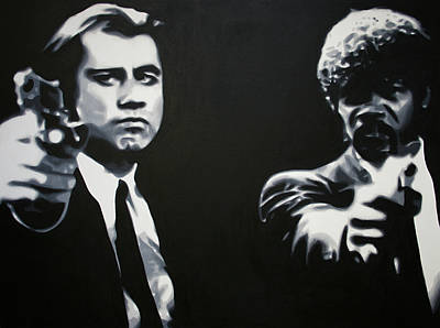 Pulp Painting - - Pulp Fiction - by Luis Ludzska