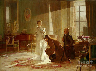 Victoria Painting -  Queen Victoria Receiving News by MotionAge Designs