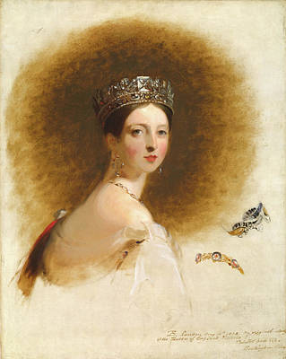 Victoria Painting -  Queen Victoria by MotionAge Designs