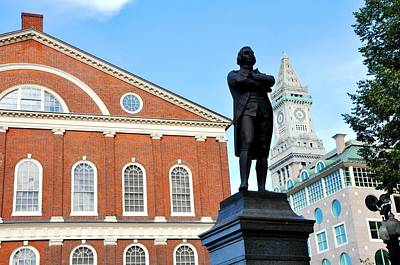 Photograph -  Quincy Market And Sam Adams by Andrew Dinh