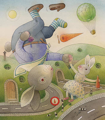 Painting -  Rabbit Marcus The Great 05 by Kestutis Kasparavicius