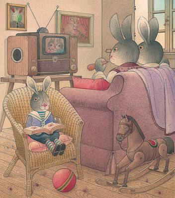 Painting -  Rabbit Marcus The Great 08 by Kestutis Kasparavicius