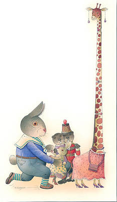 Painting -  Rabbit Marcus The Great 23 by Kestutis Kasparavicius