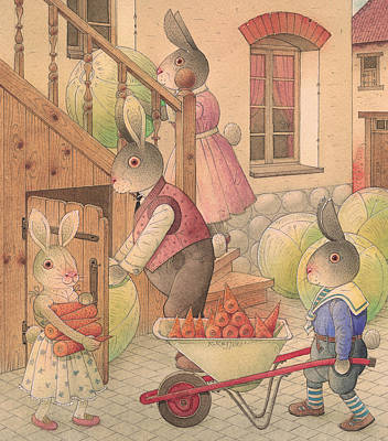 Painting -  Rabbit Marcus The Great 27 by Kestutis Kasparavicius