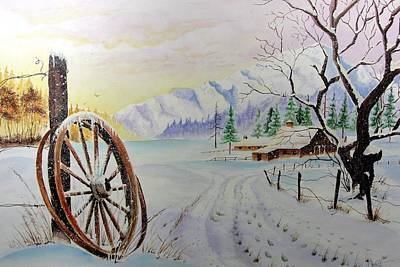 Painting -  Ranch Christmas by Jimmy Smith
