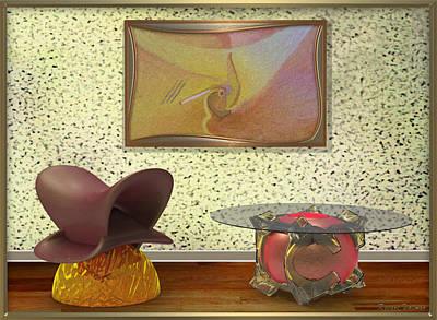 Digital Art - ' Rare Bird ' - In Setting by RSVPalmer